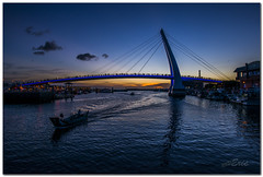((eric)) Tags: blue light sunset sky nikon taiwan  fishermanswharf taipei   fishingboats    freshwater d800     thelove