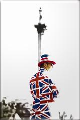 Union Jack Man (Sanalejo Photography) Tags: london trafalgar trafalgarsquare unionjack unionjackbritain sanalejophotography