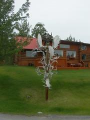 Antler Street Sign (jimmywayne) Tags: canada sign streetsign historic yukon signpost antler hainesjunction yukonterritory
