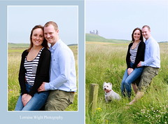 Helen & Matt - Pre Wedding Shoot - Embleton - Northumberland (Lorraine Wight Photography) Tags: uk boy summer castle love beach girl beautiful smile grass happy coast engagement seaside couple pretty god dunes scenic sunny northumberland cairnterrier westhighlandterrier whitedog foggyday dunstanburgh dunstanburghcastle preweddingshoot