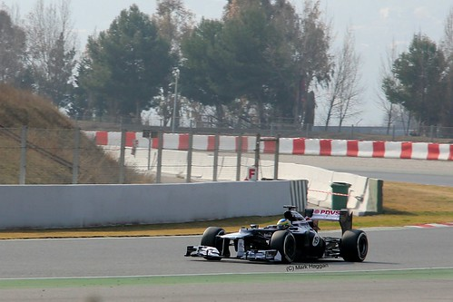 Bruno Senna in his Wiliams F1 in Winter Testing, Circuit de Catalunya, March 2012