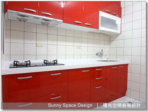 廚具│廚房設計│廚具大王林易延-三重成功路鍾先生一字型廚具-陽光空間廚衛設計5