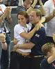 Catherine, Duchess of Cambridge aka Kate Middleton and Prince William, Duke of Cambridge and Prince Harry during the Team Pursuit Track Cycling Qualifying on Day 6 of the London 2012 Olympic Games at Velodrome London, England