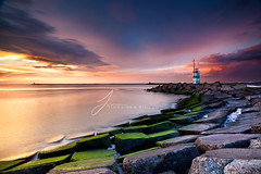 Dutch Summer Sunset (Jinna van Ringen) Tags: longexposure sunset lighthouse netherlands amsterdam canon eos coast ringen ijmuiden dutchcoast jinna singhray leefilters dutchsunset singhrayfilter reversendgrad singhrayreverse jorindevanringen jinnavanringen chanderjagernath jagernath jagernathhaarlem
