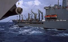 Underway Replenishment (SeasSoShining) Tags: ocean film 50mm nikon fuji navy slide slidefilm velvia sailor aircraftcarrier e6 carrier flightdeck underway velvia50 fm2n