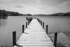 Coniston Water (Pabs777) Tags: uk blackandwhite bw lake water monochrome fence landscape pier blackwhite nikon grasmere lakedistrict landing cumbria 2016 nikonafs1755mmf28g bigstopper d7200 nikond7200