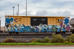 (o texano) Tags: houston texas graffiti trains freights bench benching grom uper