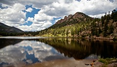 Afternoon at Lily Lake (SWR Chantilly) Tags: lilylake estespark colorado rockymountains reflection water lake summer