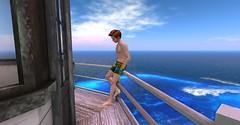 20160702 - PatrickUnicorn_07_001 (Patrick Unicorn) Tags: boy waiting hanging out lighthouse top sea shore