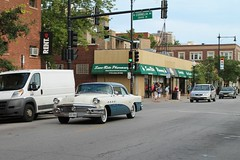 From Flint With Love (Flint Foto Factory) Tags: chicago illinois urban city summer august 2016 north lakeview 650 wcornelia cornelia broadway intersection 1956 buick super 2door coupe blue white twotone manufactured flint michigan hometown chrome moving inmotion motion portholes fenders beautiful american classic car generalmotors gm