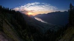 Mare Nostrem (Elliott Bignell) Tags: switzerland suisse svizzera schweiz ostschweiz rheintal rhinevalley flums flumserberg walensee walenstadt see gebirgssee bergsee sonnenuntergang sunset sundown abend evening lake walen berge berg alps alpen alpine alp