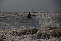 Wave after wave (Andrew 62) Tags: sea tide anotherplace windturbines blundellsands beach crosby liverpool antonygormley