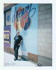 Dreamy (ilovecoffeeyesido) Tags: polaroidcolorpackiiilandcamera fujifp100c analog instantfilm peelapartfilm polaroid vintagecamera fortwaynein border film mural portrait dream