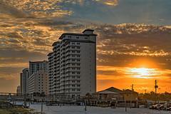 Evening Sunset (Stuart Schaefer Photography) Tags: cloudscape sunset condos dusk navarrebeach outdoors seascape building florida landscape clouds