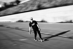 IMG_3428 (Alexey Gers) Tags: skateboard skater extreme blackandwhite shadow summer jump action