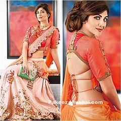 Shilpa Shetty Kundra in Orange Crop Blouse and Lehenga (shaf_prince) Tags: actressinlehengas actressinorangedresses backlessblouses bollywoodactress bollywooddesignerdresses bollywoodlehengas celebritydresses designerlehengas designerwear indianfashiondesigners lehengacholidesigns partywearlehengas rajashtanistylelehengas ruceru shilpashetty