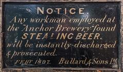 Warning notice, in the Bridewell (bardwellpeter) Tags: lumixlx7 norwichnorfolk norwich aanynorwich breweries bridewell bridewellalleyqz bullards exhibits marchs panlx7 zonemcentre