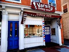 Varsity (e r j k . a m e r j k a) Tags: pennsylvania adams gettysburg varsity barbershop storefront lincolnhighway us30 smalltowns erjkprunczyk signs