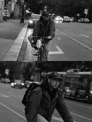 [La Mia Citt][Pedala] (Urca) Tags: milano italia 2016 bicicletta pedalare ciclista ritrattostradale portrait dittico bicycle bike biancoenero blackandwhite bn bw nikondigitale mir 889118