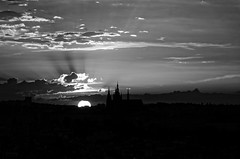 Silhouette (Fimothas) Tags: silhouette church glise cathdrale prague praga contrejour sunset