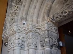 Detail, Romanesque Arch (Bebopgirl1969) Tags: arch sculpture carving greenman burrellcollection