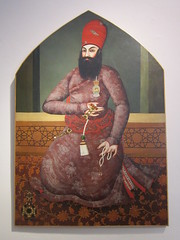 Cannes: Musée de la Castre - Portrait of a Persian Prince (escriteur) Tags: img6022 france frenchriviera cannes muséedelacastre museum collection oriental middleeastern persian painting picture portrait prince qajar