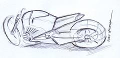 motocicleta a lapicero (ivanutrera) Tags: sketch sketching draw dibujo drawing dibujoalapicero dibujoenboligrafo boligrafo pen lapicero motocicleta moto motorcycle