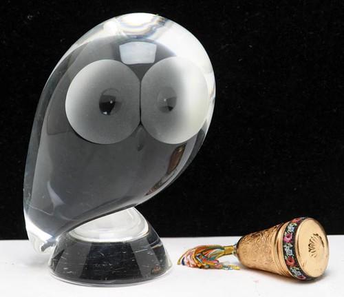 Steuben Crystal Owl Sculpture ($123.20)