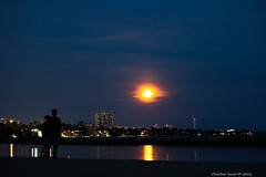 A Place To Be (FollowFiend) Tags: full moon strawberry toronto skyline humber bay night hangout unsolicited unexpected recovery mission place water september canada ontario