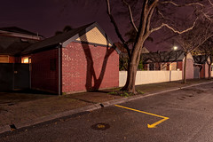 21 (Andrew_Dempster) Tags: night houses nightshot winter australia picketfence longexposure southaustralia homes sa shadows road norwood suburbia nightscape trees wall suburban au