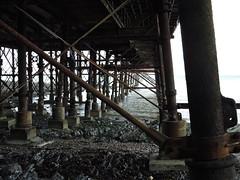 Under the Pier (corrallmccormack) Tags: aber aberystwyth pier beach
