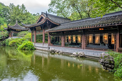 the tea garden (Jixin YU) Tags: viewing natural landscape nature flower leaf outdoor lake westlake pond garden plant teahouse excursion tree travel tourism g20 water beautiful green fish rain hangzhou lotus