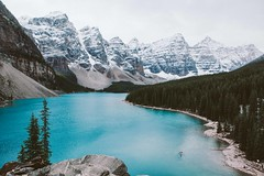 Moraine Lake. (ben giesbrecht) Tags: yellow morainelake alberta moutains explore lake canon 5d mkii landscape