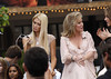 Paris Hilton and Kathy Hilton at The Grove to launch Kathy's new fashion line 'The Kathy Hilton collection' on 'Extra' Los Angeles, California