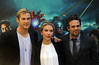 Chris Hemsworth, Scarlett Johansson and Mark Ruffalo Stars of the new movie 'The Avengers' attend a photocall in Rome Rome, Italy