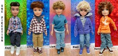 One Direction bratz boy band !!! (1st  Bratz Boyz) Tags: boy louis dolls oneofakind harry boyz customized zayne niall onedirection bratzboyz liiam bratzboy harrystyles louistomlinson zaynmalik liampayne niallhoran customizedbratz onedirectionband customizedbratzboy