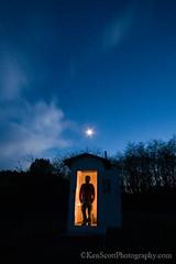 Moon Room ... npp'n inside (Ken Scott) Tags: usa moon june spring twilight michigan may lakemichigan greatlakes outhouse npp 2012 freshwater voted selfie leelanau kenscott sbdnl nonposepose sleepingbeardunenationallakeshore mostbeautifulplaceinamerica