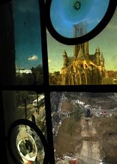 Ghent thru the window (Belgium) (albatz) Tags: city distortion window glass belgium ghent lpsurreal