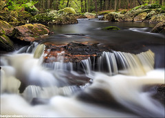 8 mile river spring falls (benjacobsen) Tags: green sunrise river ct 1635ii 5diii