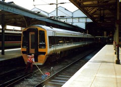 Norwich, 26th May 1992, 158775 (elkemasa) Tags: norwich 1992 sprinter dmu class158