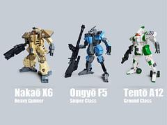 Mecha Classes roundup 2 (Fredoichi) Tags: lego space military police walker micro mecha mech microscale fredoichi gundamtype patlabortype