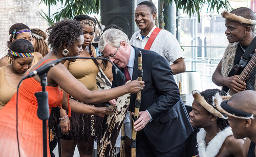 Eamon Gilmore Attends The Launch Of The Africa Day Flagship Event In Dublin