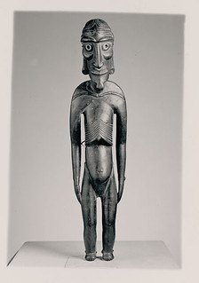 Wood:with Fish Vertebra Eyes:Effigy Called Kava Kava Moai n.d.