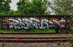 Mr. Perfik (The Braindead) Tags: street art car minnesota train bench photography graffiti interesting junk paint flickr mr painted tracks cities minneapolis twin rail explore most beyond shape nk the braindead flickrs shaper perfik thebraindead