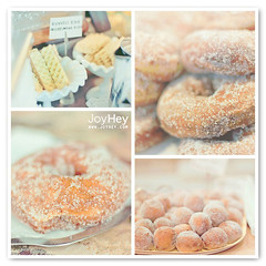 Vintage Desserts (JoyHey) Tags: cute art classic vintage recipe happy photography soft sweet pastel traditional joy dream retro donuts buffet doughnuts oldfashioned donutholes doughnutholes waferbiscuits joyhey