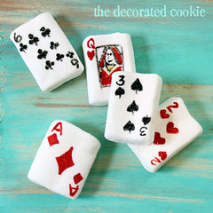 marshmallow playing cards (thedecoratedcookie) Tags: kids candy crafts games marshmallows playingcards fooddecoratingpens