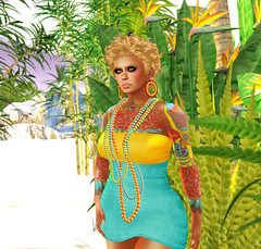 Meshing Around @ the beach (Mirth) Tags: life beach fashion happy fire mesh crystal group line spell deer divine gift second undead around ikon aura hunt dura lese yoa freebies lpd mydear handverk miamai fzapp