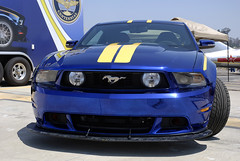 2012 Blue Angels Ford Mustang (linda m bell) Tags: california blue ford field car airport oneofakind elcajon airshow angels mustang custom gillespie 2012 wingsovergillespie