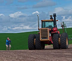 Big Red Tractor-Palouse (ArtApril) Tags: tractor canon washington photographers agriculture photographing phototrip palouse phototrips farmmachinerary wwwfourseasonsphototourscom