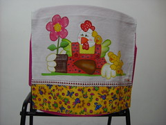 Pano de prato Galinha jardineira (Pintura em tecido. Panos de prato.) Tags: galinha galinhas pinturacountry panosdeprato panodecopa